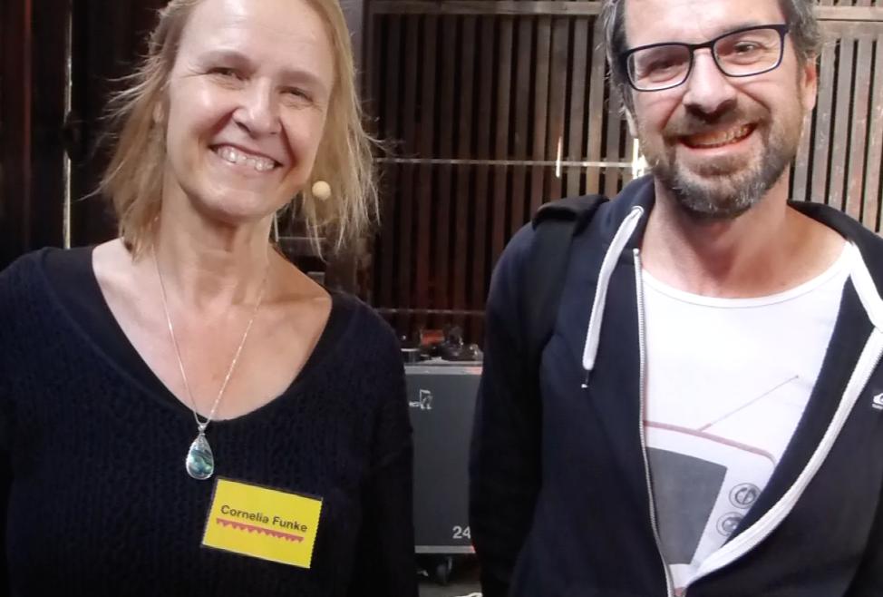 Cornelia Funke und Hubert Wiest